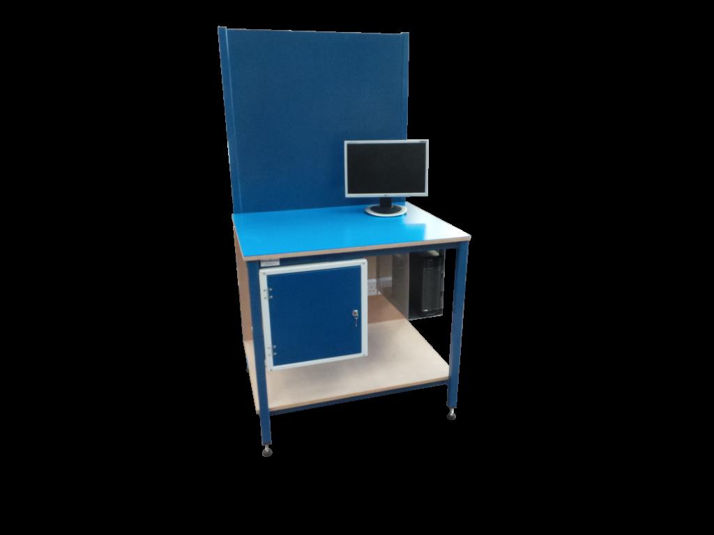 desk with locker
