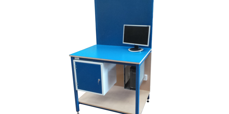 Desk with locker