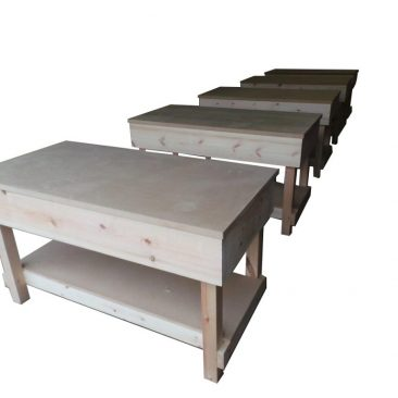wooden workbenches