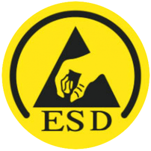 ESD protection sign