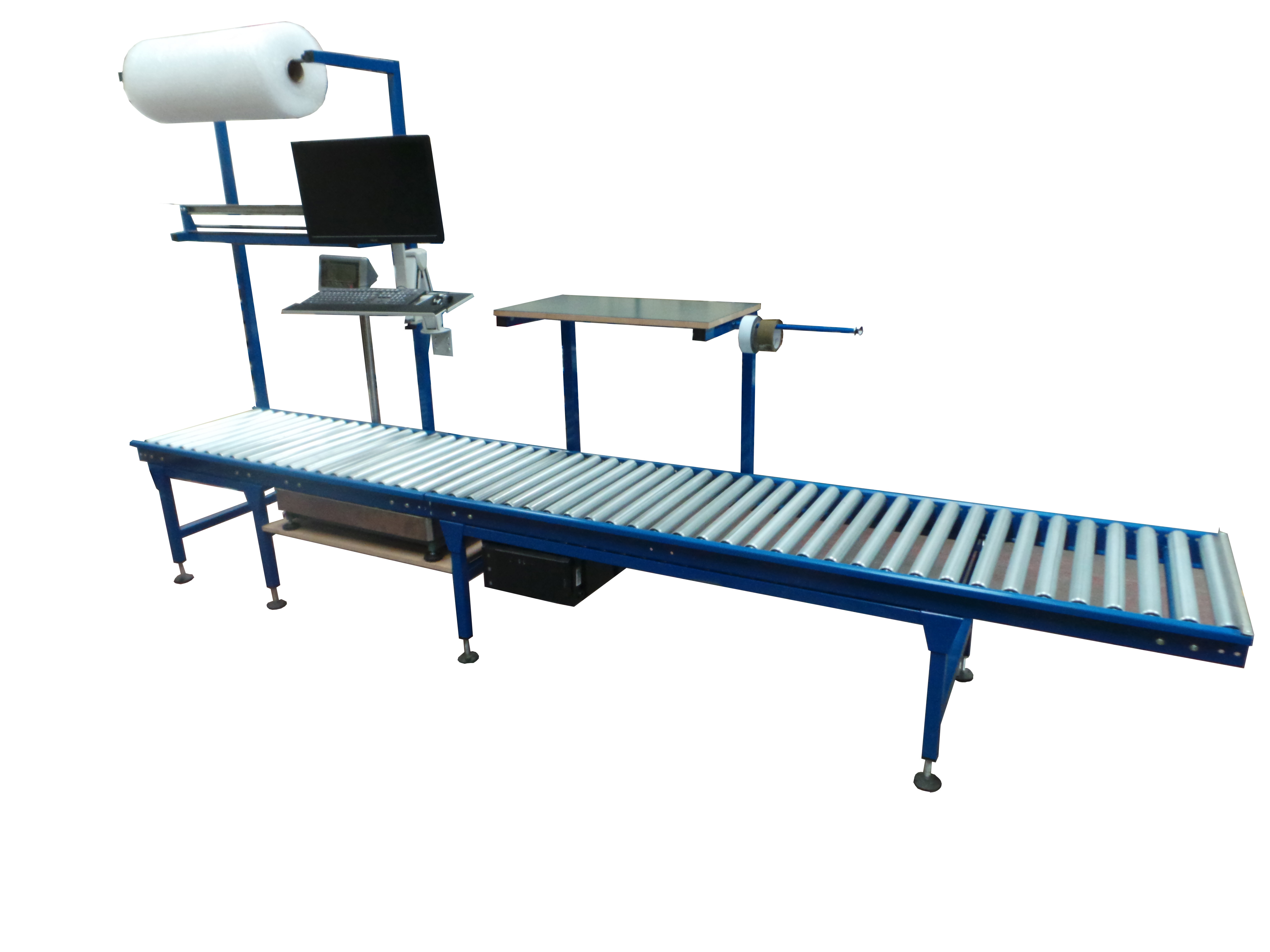 Roller conveyors workstation
