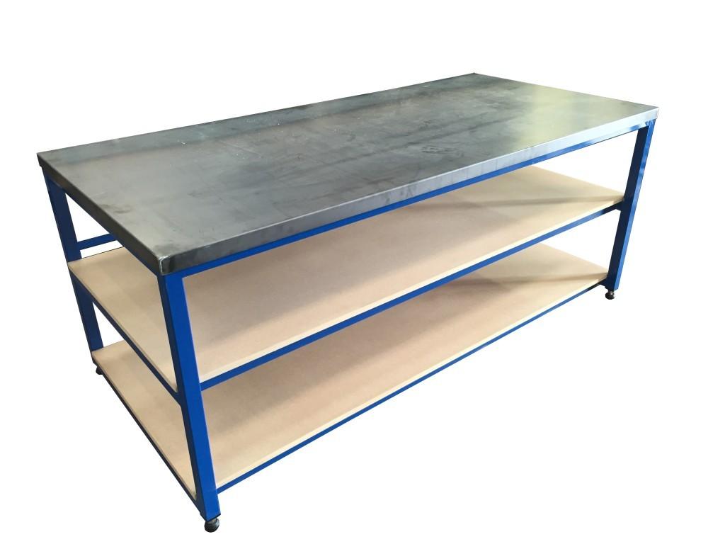 heavy duty steel topped bench
