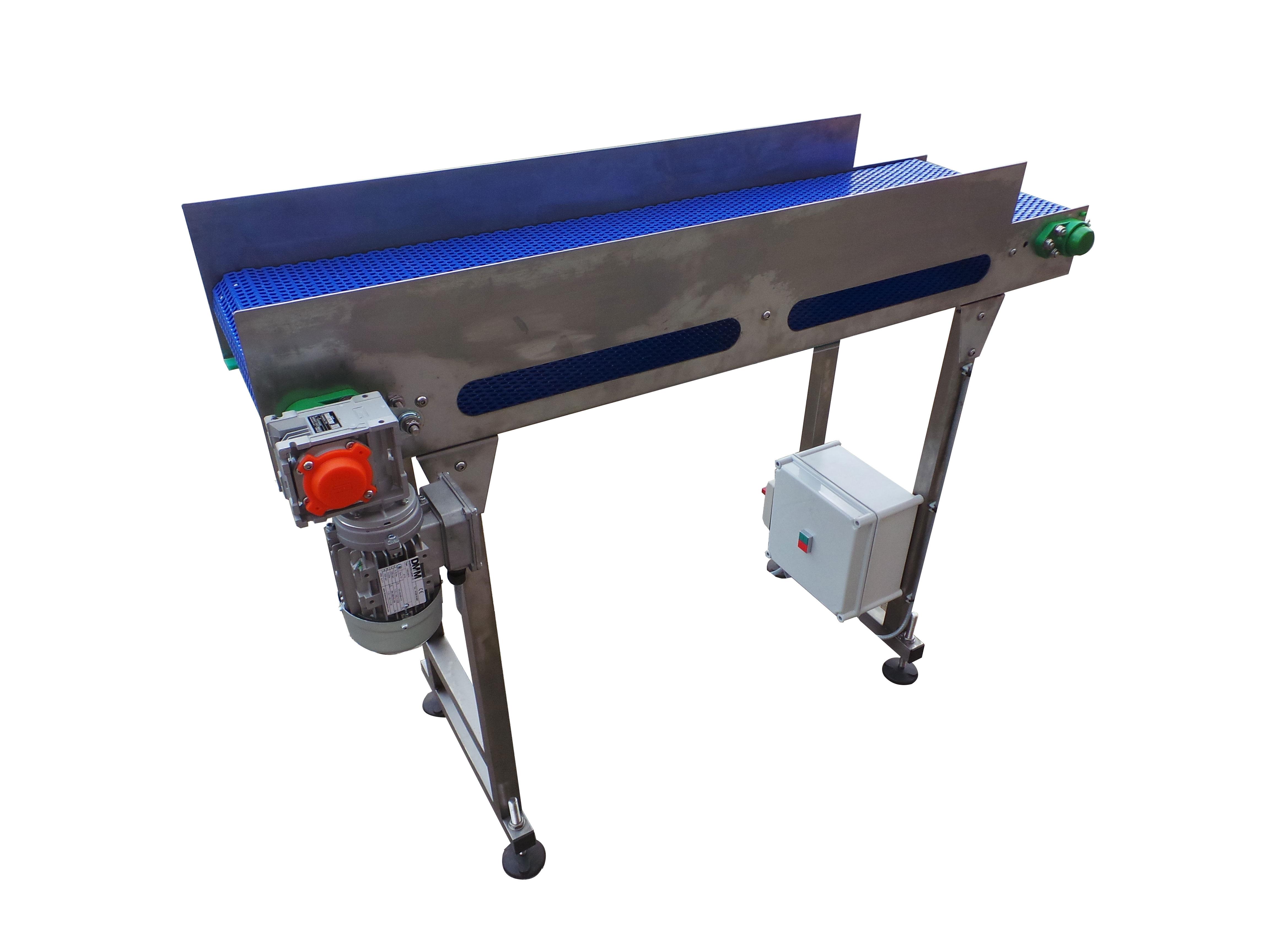 Food safe modular belt conveyors