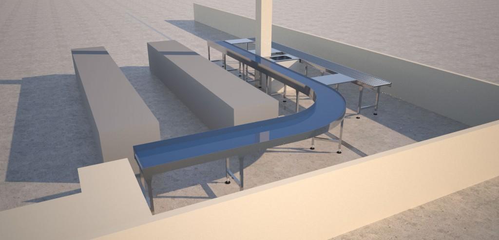 conveyor layout render