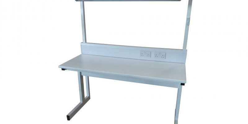 white cantilever workbench