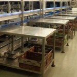 stainless steel tables packing line