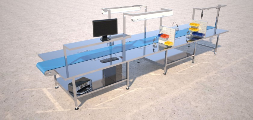 stainless steel workstation