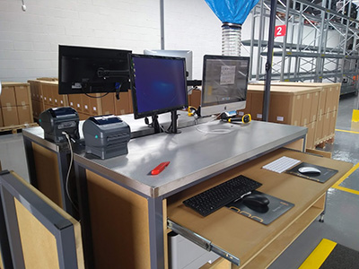 bespoke packing workstations
