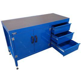 Heavy Duty Work Bench - drawers open