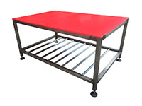 Heavy duty stainless steel workbench