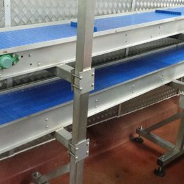 double layered plastic modular belt conveyor