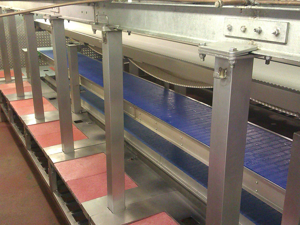 Modular conveyor top down