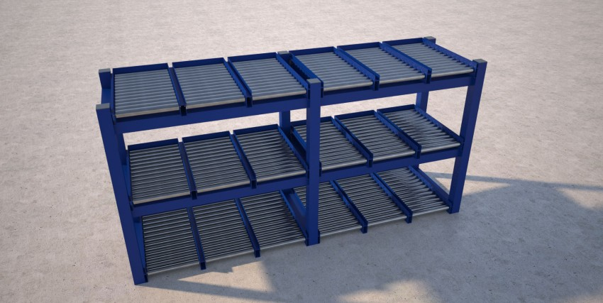 Carton live storage - Full width rollers