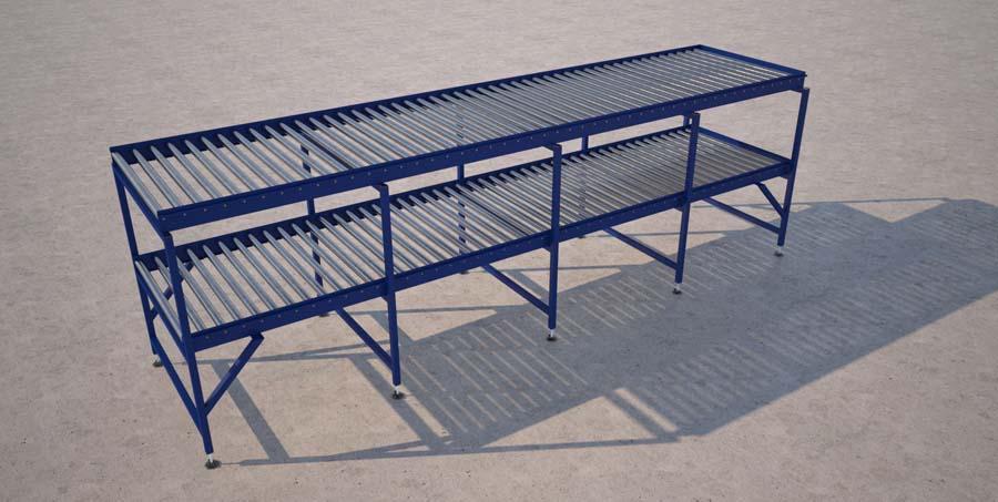 2 tier gravity conveyor render