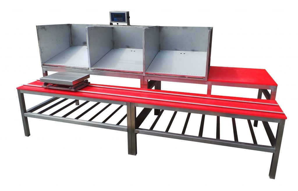 Bespoke workstations with integral weighing