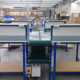 Belt conveyor for repair line