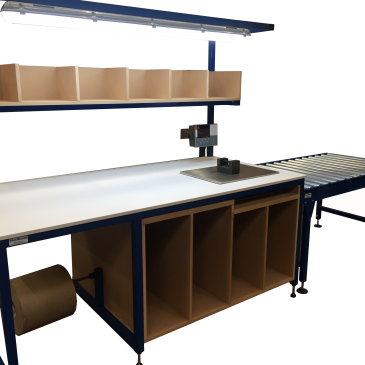 Industrial workbench with integral weighing scales