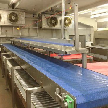 Food conveyors and workstations