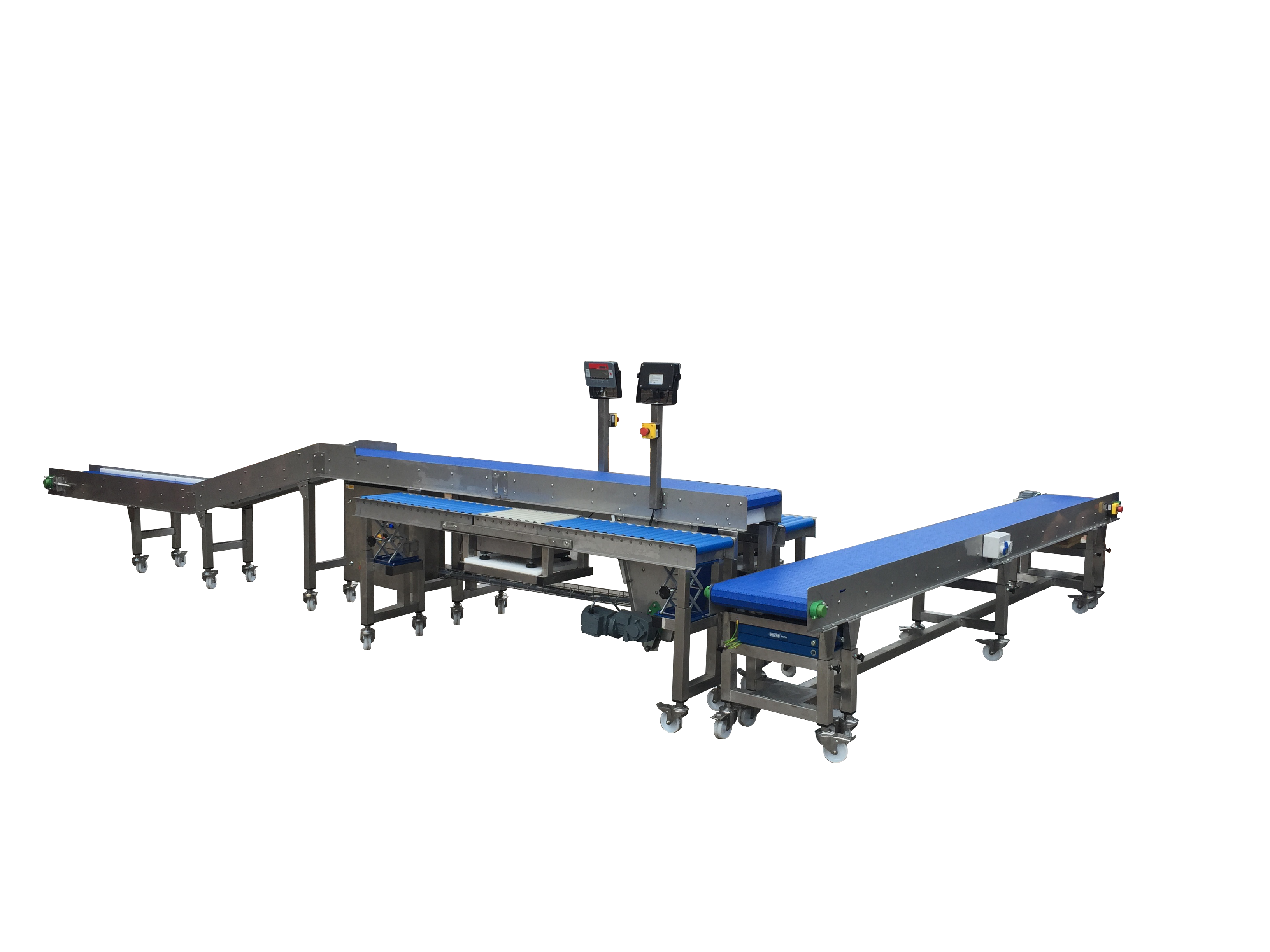 Height adjustable conveyor workstations