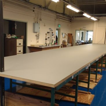 linoleum cutting table worktop