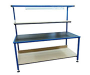 workbench complete with overhead lighting, anti static nylon worktop surface. Along with upper and lower shelf