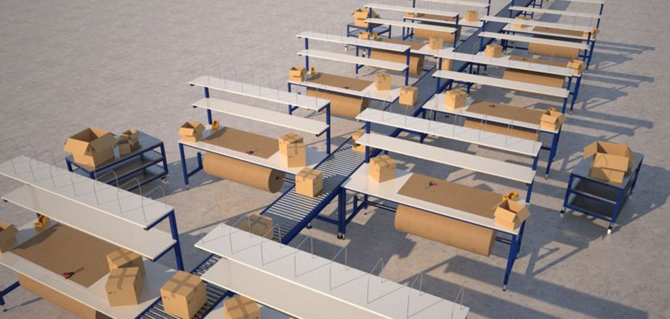 Bespoke packing line - complete with conveyors