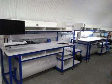 Bespoke custom fitted packing benches