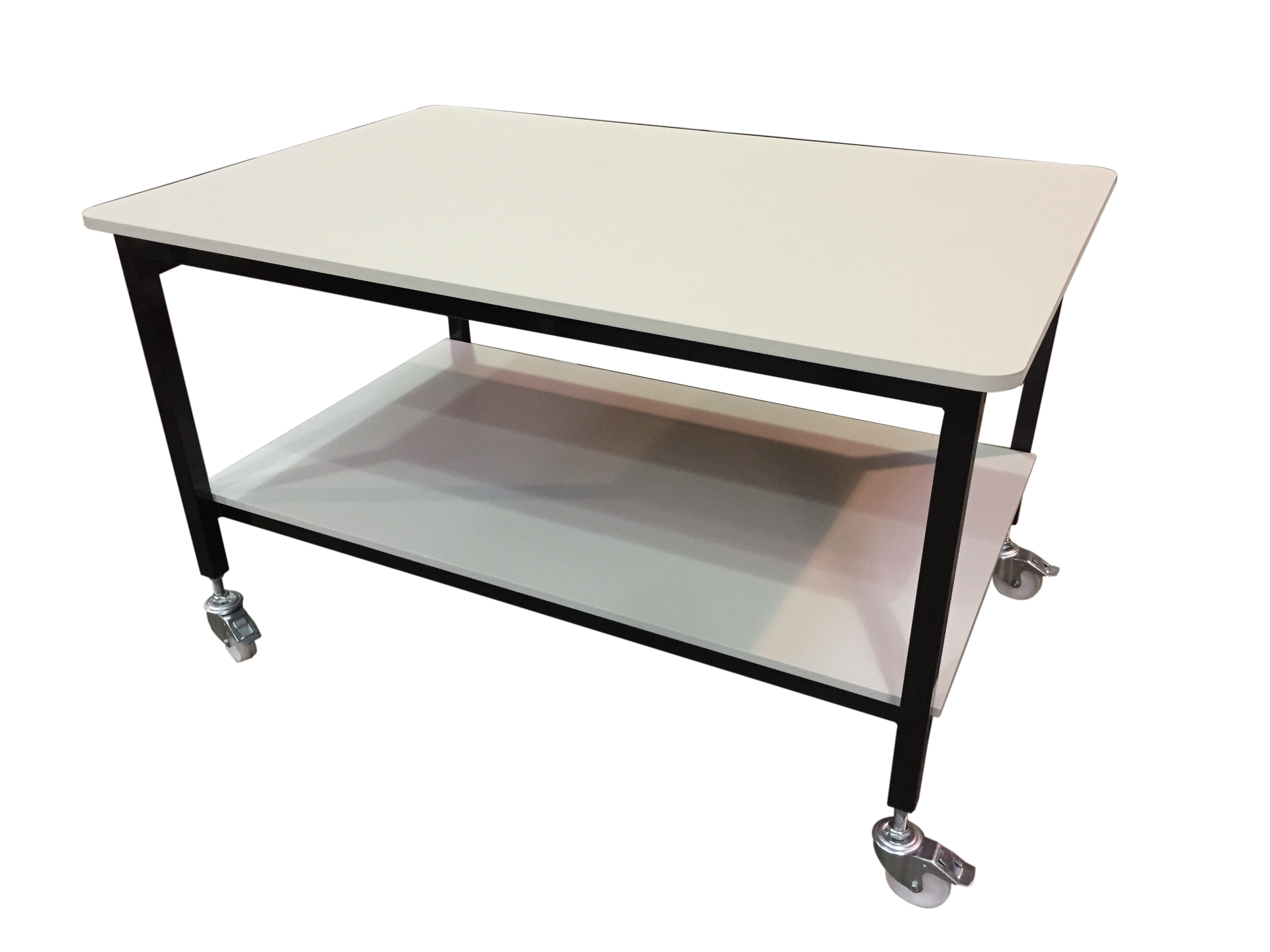 Mobile fabric cutting table