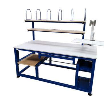 Well designed packing stations reduce process times.