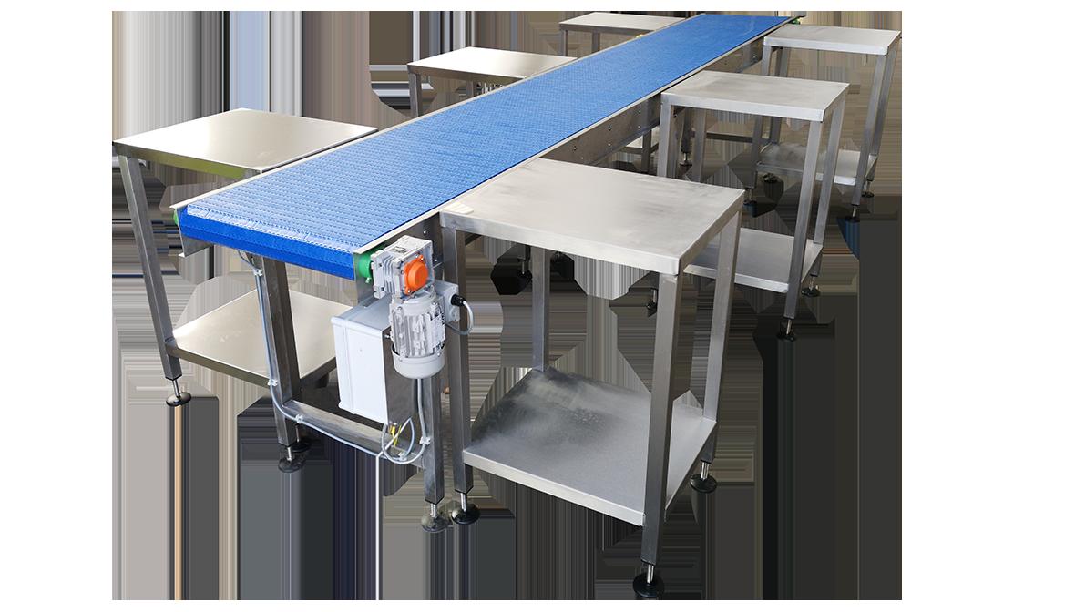 Food packing conveyor
