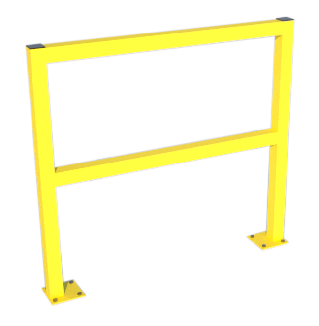 Walkway safety barrier