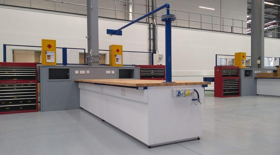 Bespoke workshop industrial workbenches