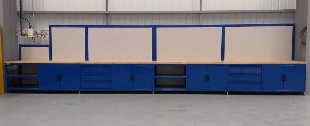 fitted industrial workbench