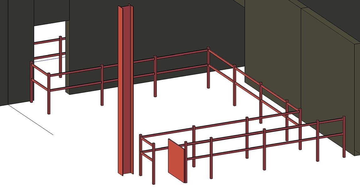 Warehouse walkway barriers