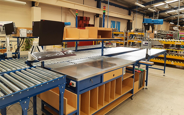 bespoke workbench - lean packing line