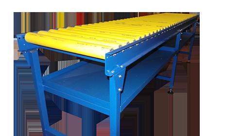 A Bespoke fluid handling gravity roller conveyor