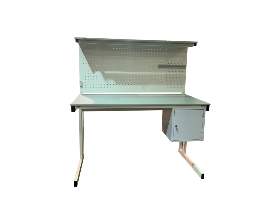 Electrical workbench with cupboard