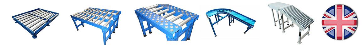 - Gravity roller conveyors