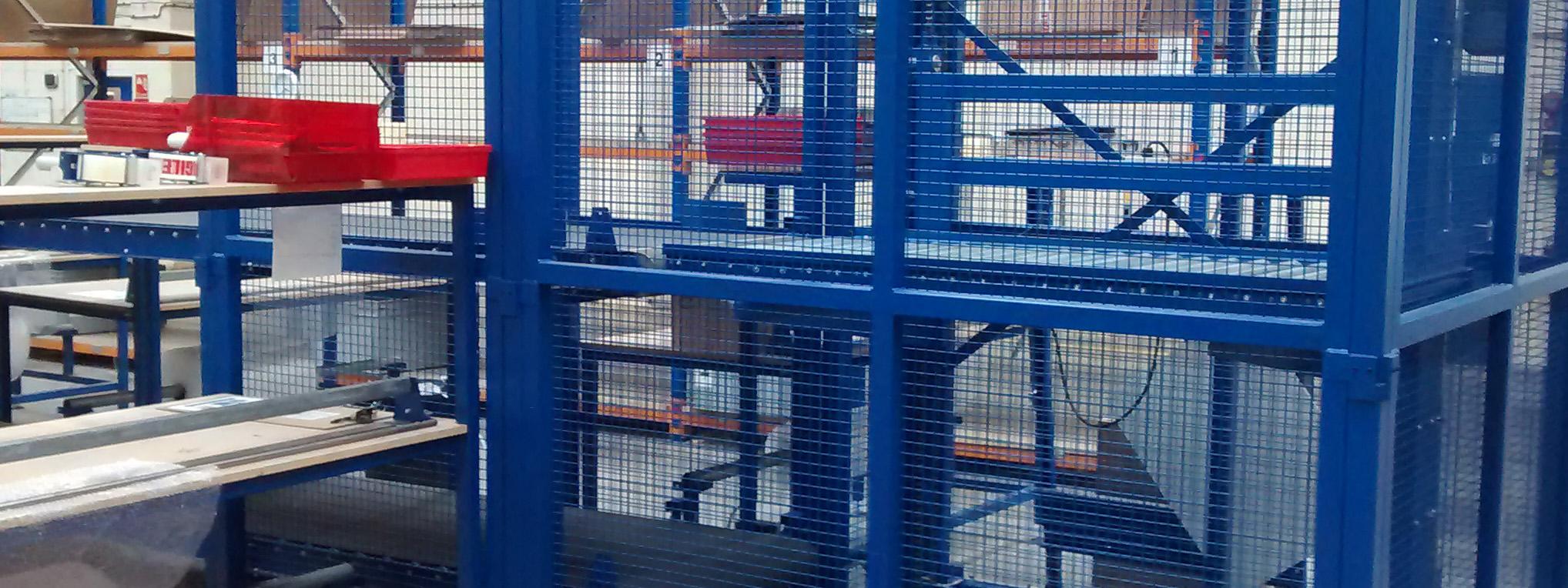 Industrial Guarding - Conveyor lift mesh guard