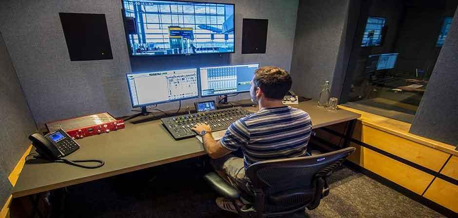 Post production editing desk