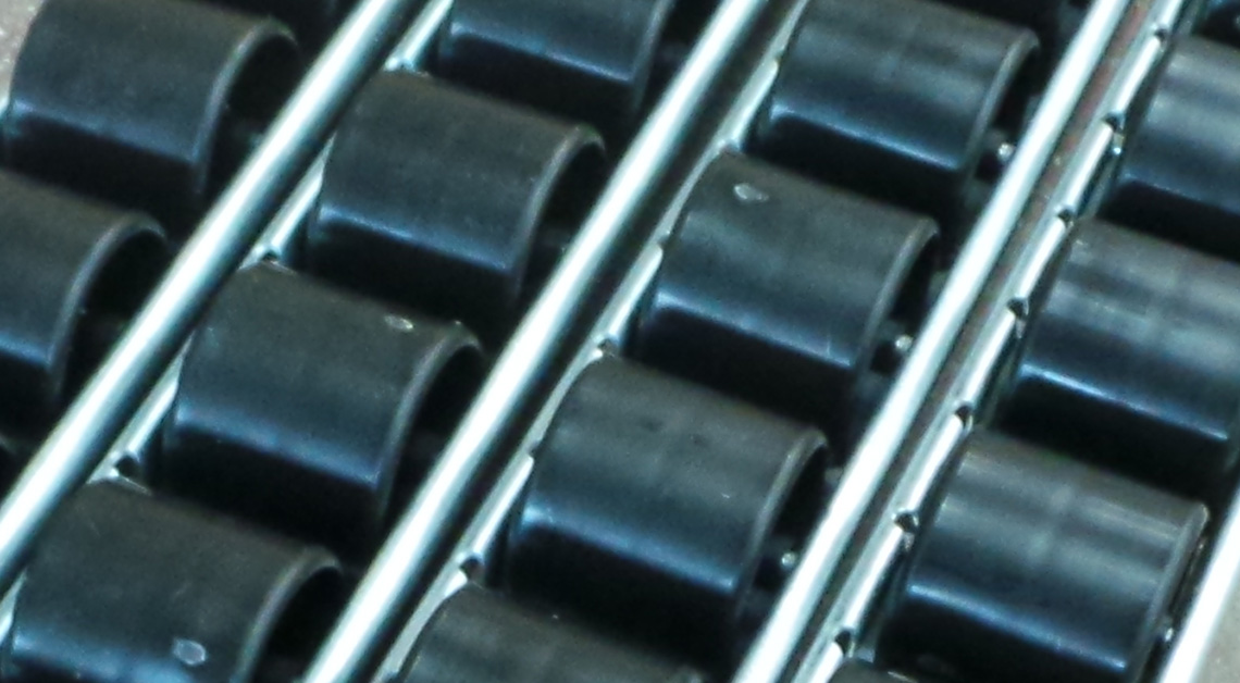 Carton flow rollers