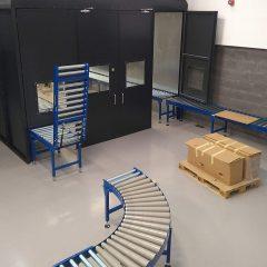 roller conveyor lift up gate