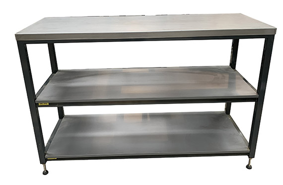 Bespoke heavy duty workshop storage shelves