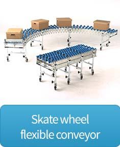 Skate wheel flexible conveyor