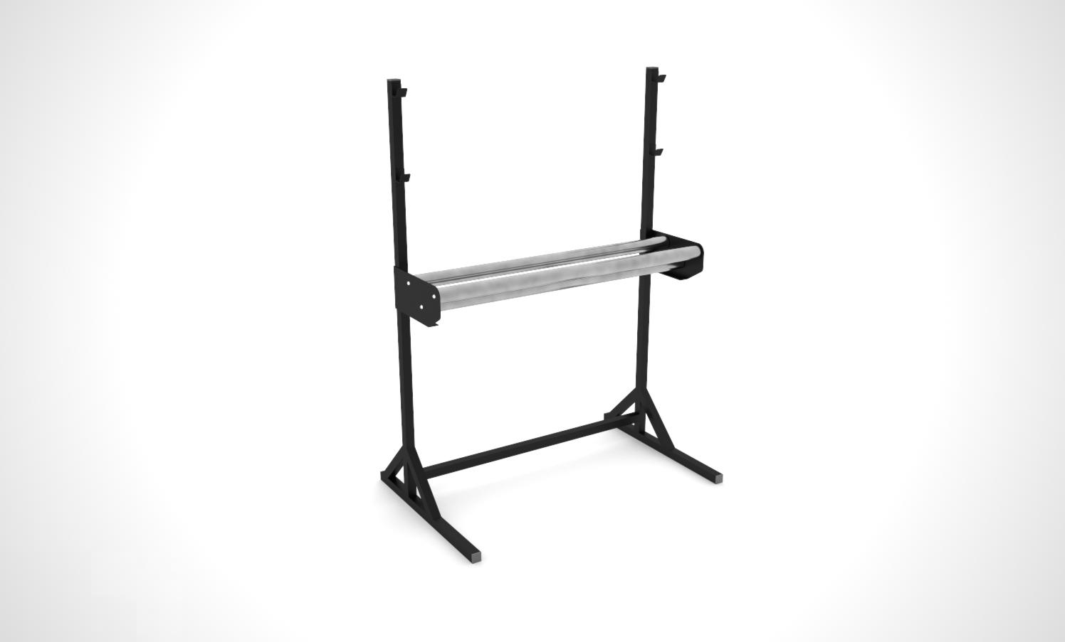 3 roller - Floor mounted roll holder