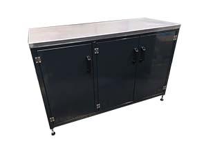 Workshop workbench - triple cupboard
