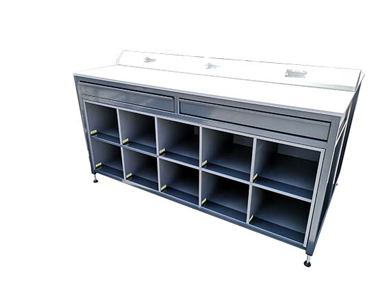 Industrial workshop parts storage and drawer unit