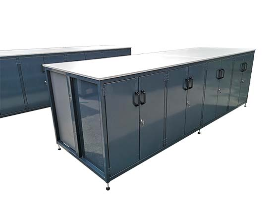 double sided enclosed storage