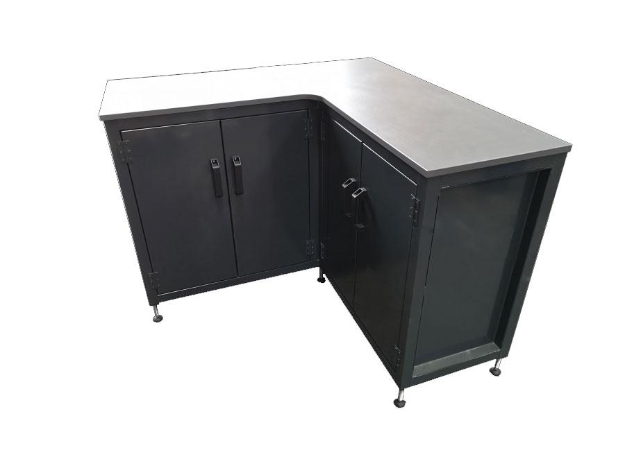 Steel corner cabinet
