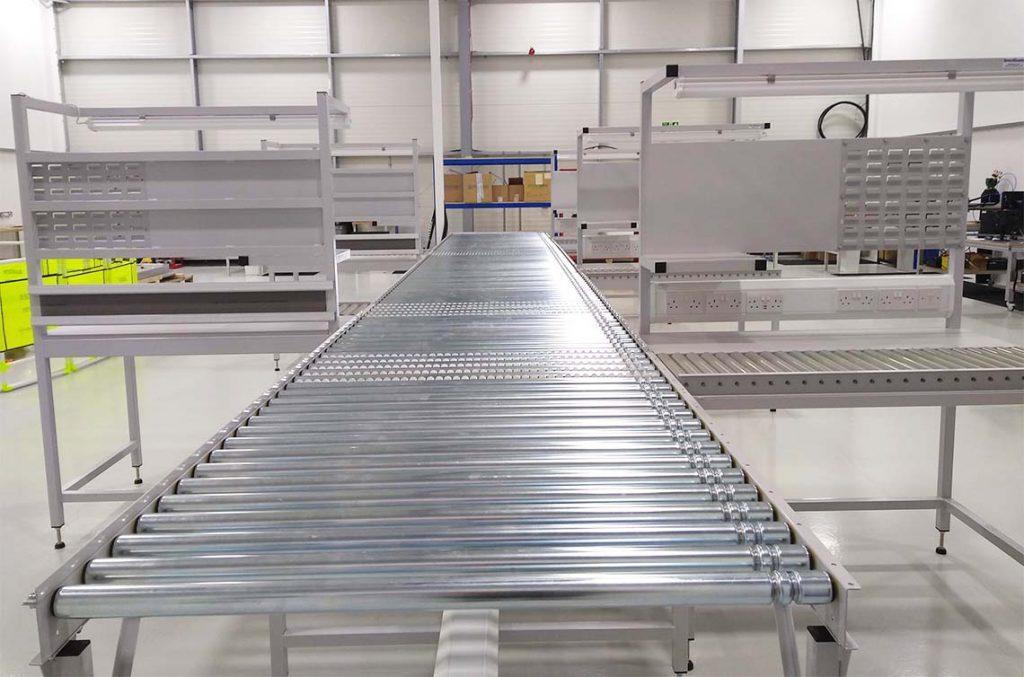 gravity roller conveyor workstations
